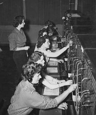 1953 Sembach Switchboard Operations.  Sembach AFB.