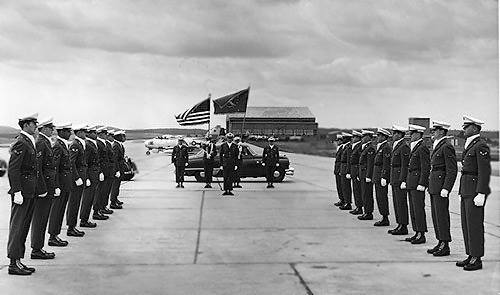 Special Honor Guard Ceremony, Sembach Flightline, 1953.