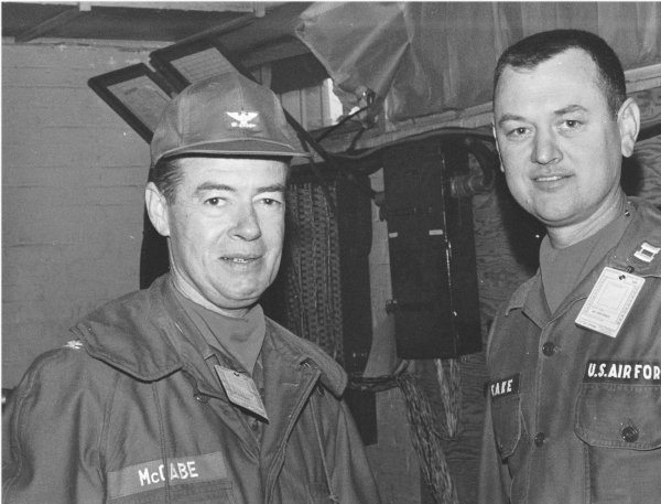 Colonel McCabe, Captain Leake, 60st TACC, Sembach AB Germany