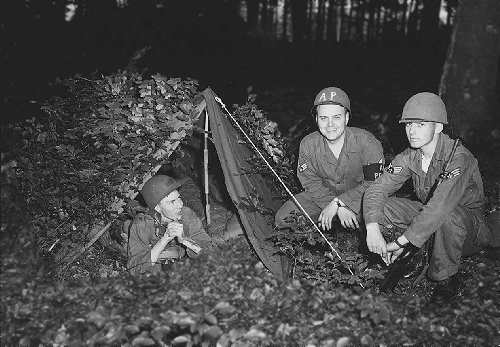 Sembach Air Police on Bivouac, 1955